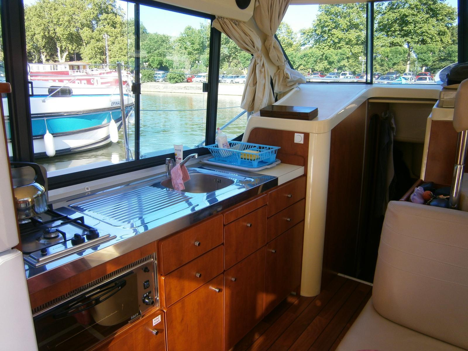 Innenausstattung von einem Hausboot