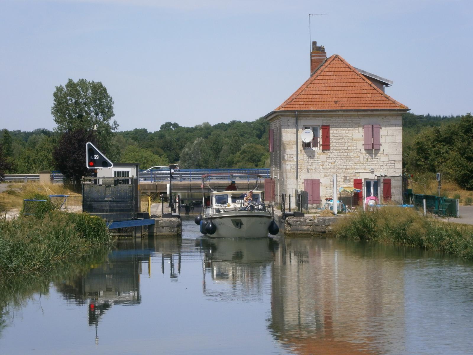 Schleusen in Frankreich