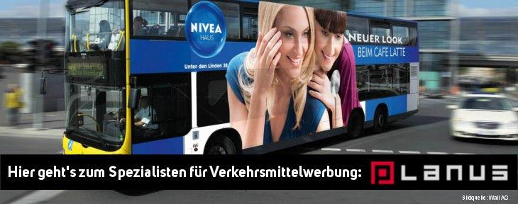 Werbung auf Bus