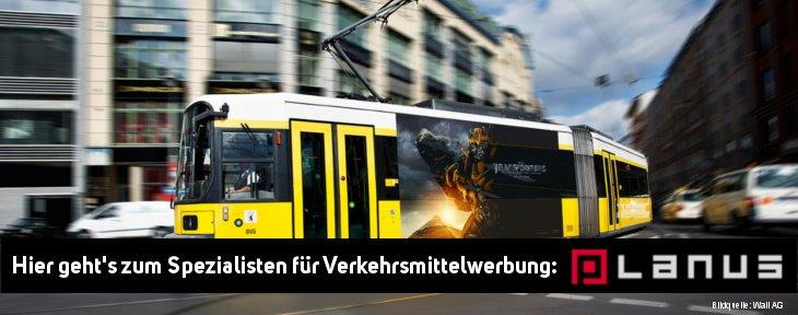 Werbung auf Strassenbahn